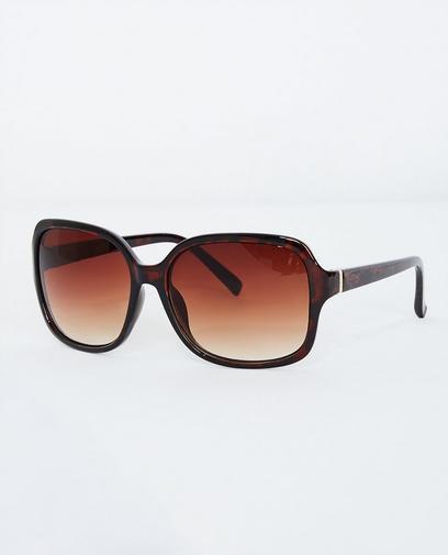 Donkerbruine zonnebril